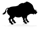 Boar Warthog Animal Silhouette - 211910740