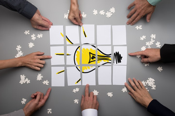 Conceptual for brainstorming and teamwork © Gajus