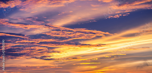 The magic of the clouds and the sky at dawn - 211920590