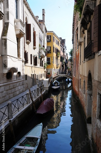 The architectures and Grand Canal in Venice, Italy - 211937118