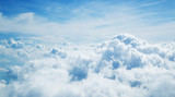 Above the clouds. Beautiful above sky panoramic view - 211942360
