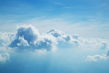 Above the clouds. Beautiful above sky panoramic view - 211942374
