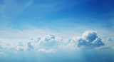 Above the clouds. Beautiful above sky panoramic view - 211942390