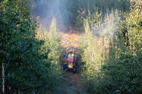 Aluminium Trekker This image shows a farmer working