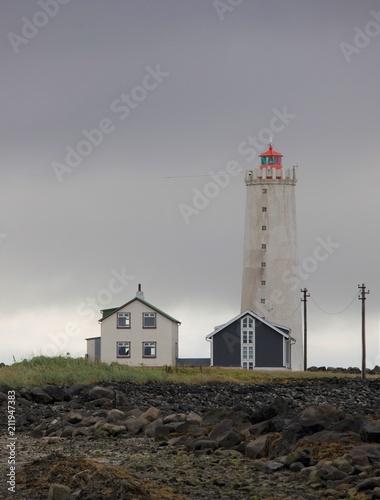 Plexiglas Vuurtoren Faro a Reykjavik in Islanda