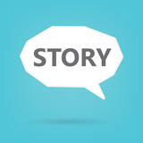 story word on speech bubble- vector illustration - 211948775