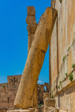 Temple of Bacchus romans ruins of  Baalbek in Beeka valley Lebanon Middle east - 211949379