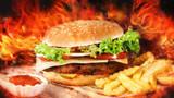 burning burger - 211950715