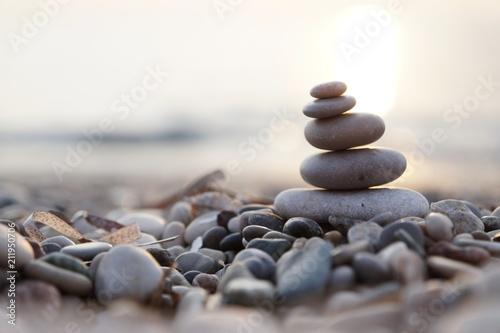 Aluminium Zen Stenen Meer & Steine & Sonne