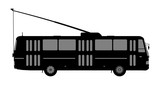 Black and white image of the trolleybus.
