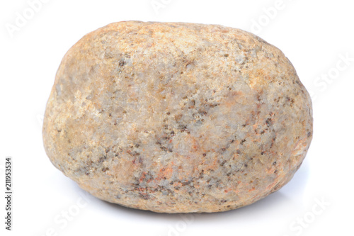 Stone Isolated on White Background - 211953534