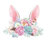 Watercolor floral composition - 211957937