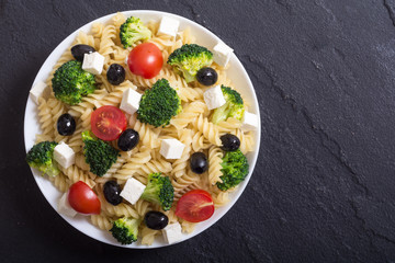 Pasta salad with ingridient © whitestorm