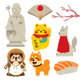 Cute collection of Japan traditional culture elements - 211979929
