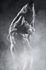 Beauty sexy body of a sportsman