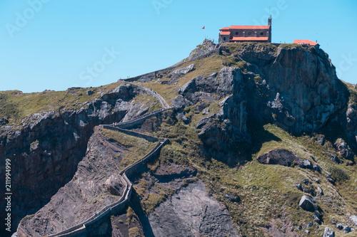 Fotobehang Lavendel San juan de gaztelugatxe island and church in Bermeo, Basque country, Spain..