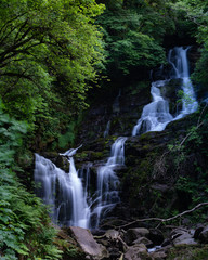Waterfall, Torc waterfall, Ireland, Killarney, long exposure