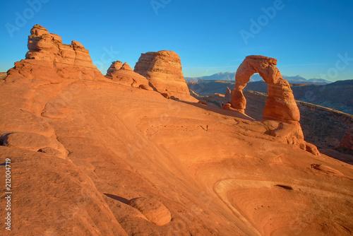 Aluminium Oranje eclat Delicate Arch and surrounding desert structures