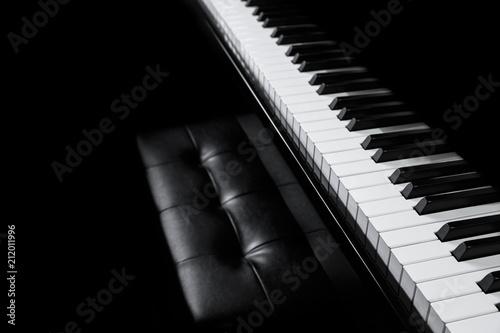 Fototapeta Piano and Piano keyboard