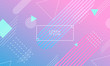 Colorful blue and pink geometric background with abstract figures