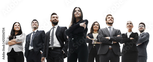 happy successful business team isolated on white background - 212036754