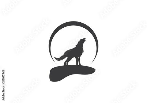Fototapeta Wolf Logo Template