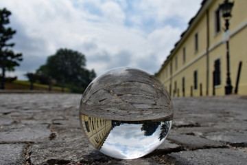 Building in the crystal ball upside down