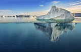 iceberg with above and underwater view - 212053338