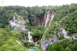 view of waterfalls in Plitvice Lakes - 212062722