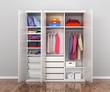 Closet compartment. Wardrobe. 3d illustrations - 212064766