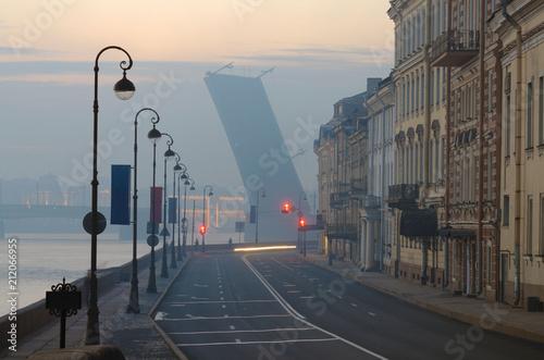 Fototapeta The drawbridges of St. Petersburg.
