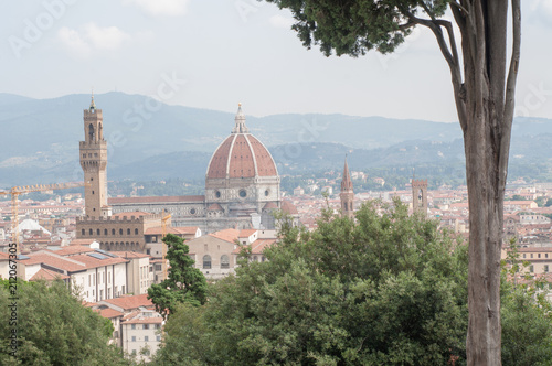 Fotobehang Florence beautiful detail of florence in a sunny day