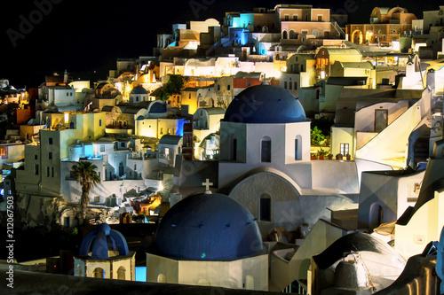Fotobehang Santorini Santorini nightscape