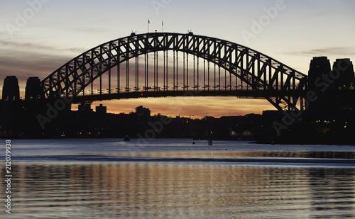 Silhouette of Harbour Bridge