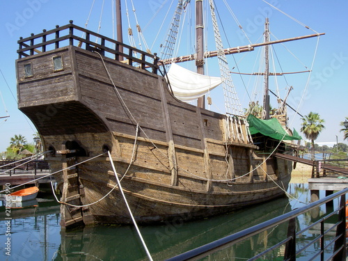 Fotobehang Schip Andalousie, Espagne