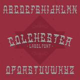 Vintage label typeface - 212088114