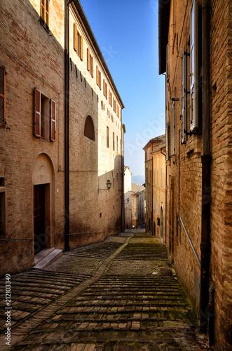 Fermo, medieval town, Italian touristic destination - 212103349