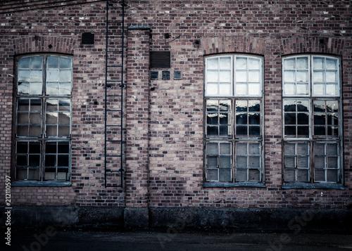 Fotobehang Oude verlaten gebouwen Factory wall