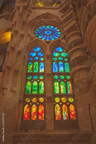 Aluminium Barcelona Sagrada familia - Famous Barcelona cathedral