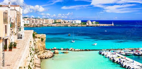 Fotobehang Freesurf Otranto - beautiful coastal town in Puglia with turquoise sea. Italian summer holidays