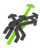 3D grüner Pefeil Richtung