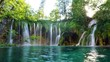 Wasserfall bei den Plitwitzer Seen in Kroartien - 212120922