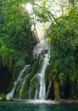 Wasserfall bei den Plitwitzer Seen in Kroartien - Plitvice
