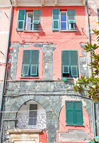 traditional colorful houses at Vernazza village Cinque Terre Italy