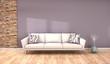 minimalistic living room scene - 3D rendering - 212123928