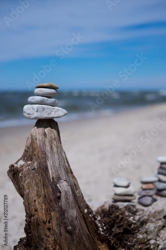 Fotobehang Zen Stenen Sea