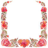 frame with ornament in folk style - 212137510
