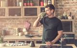 handsome man drinking Turkish coffee - 212138317