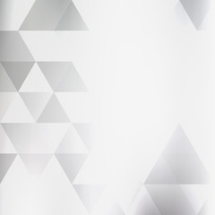 Abstract soft background with gray triangles on a white. Black-and-white vector graphic pattern