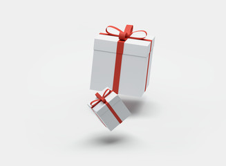 two gift boxes 3d-illustration